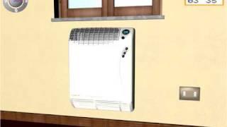 Installare il radiatore a gas Calorio ROBUR