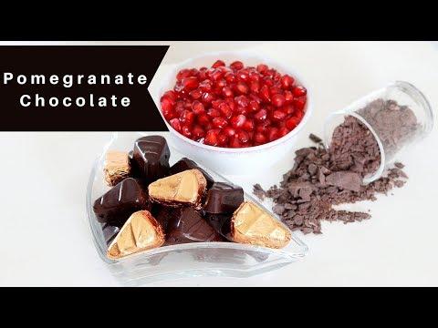 How to make Chocolate - Pomegranate Chocolate - How to make Fresh Fruit Chocolate
