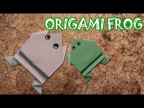 Origami Frog - Jumping Frog - Origami Easy