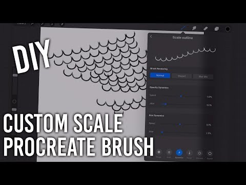 How to Make a Custom Scale Brush for Procreate