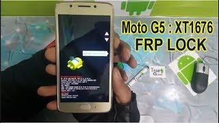 moto g5 xt 1677 frp unlock withut box