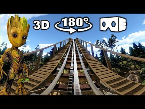 Xxx Mp4 Wooden Roller Coaster VR Video 180° 3D In Forest 3gp Sex