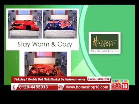 Homeshop18.com - Pick Any 1 Double Bed Mink Blanket By Harisons Homes
