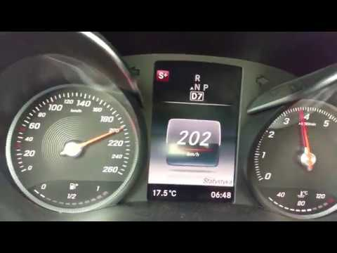 New Mercedes C-Class C200 0-200km/h Acceleration and Exhaust Sound W205