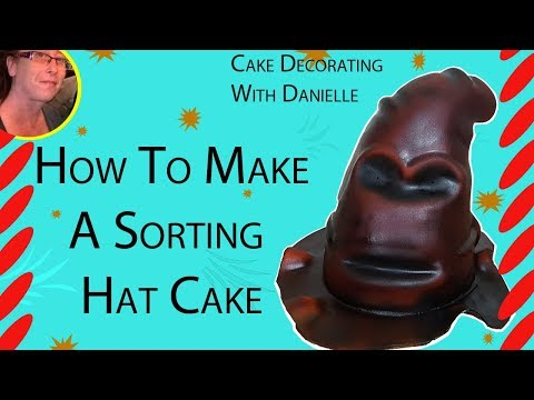 How to Make a Sorting Hat Cake Part 1 - Cakes for Kids