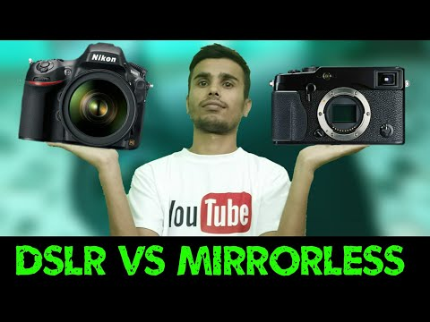 Difference Between Dslr and Mirrorless  ?