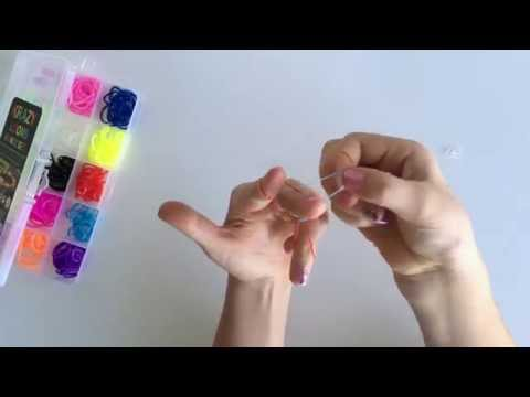 How to make 3 sided rubber band bracelet by hand easy