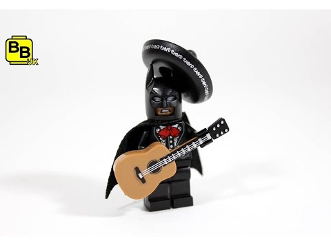 THE LEGO BATMAN MOVIE MARIACHI BATMAN SUIT MINIFIGURE CREATION REVIEW