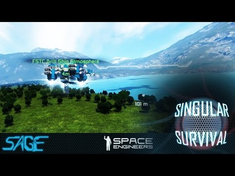 Space Engineers, Singular Survival, Ep 7 (Mining The Silver Hovel)