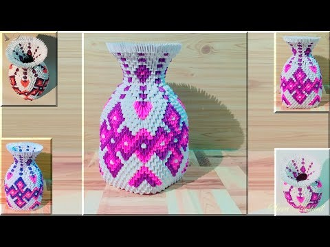 How to make 3d origami vase 41 #part 1