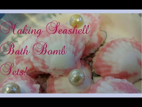 Making Seashell Bath Bomb Sets!