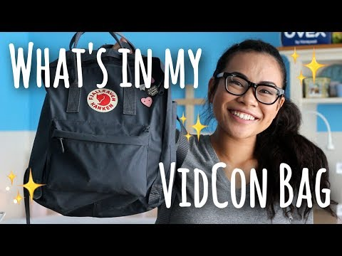 What's in My VidCon Bag! | SimplyMaci