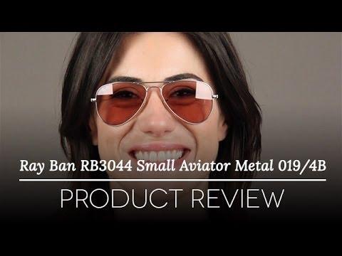 33f33ba27d2 Ray Ban Small Metal Aviator Sunglasses Rb3044   Small Aviator Sunglasses