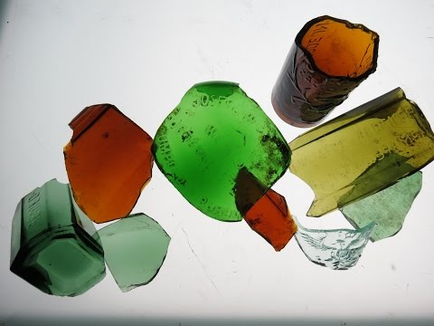 Stained Glass - Bottle of bottles ( recycling glass)
