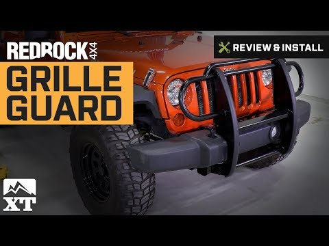Jeep Wrangler (2007-2017 JK) RedRock 4x4 Grille Guard Review & Install