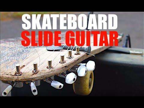 Make a Skateboard Slide Guitar with Minimal Tools!