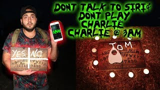 DONT CALL SIRI & PLAY CHARLIE CHARLIE CHALLENGE WITH A FIDGET SPINNER AT 3AM!
