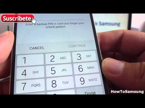 How to setup a lock-screen pattern Samsung Galaxy S6 Basic Tutorials