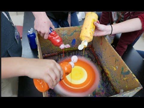Spin Art... centripetal force...