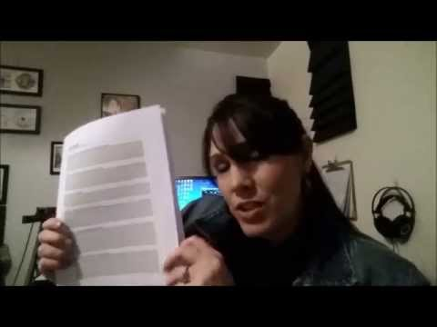 Vox Fox Studios Vlog #4 Songwriting Tip - Getting started - Title and Lyric Sketch