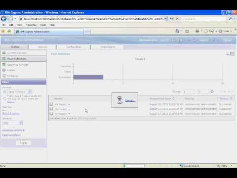 Cognos 10 Training - Report Scheduling  - Part 11 of 30