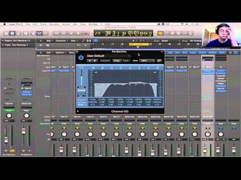 Logic Pro X Tutorial - Mixing Background Vocals #1