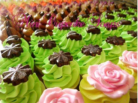 Making Mini Cupcake Soaps With Me