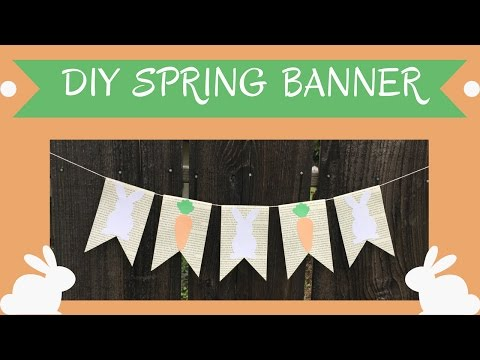 How to Make a Simple Spring Book Page Banner