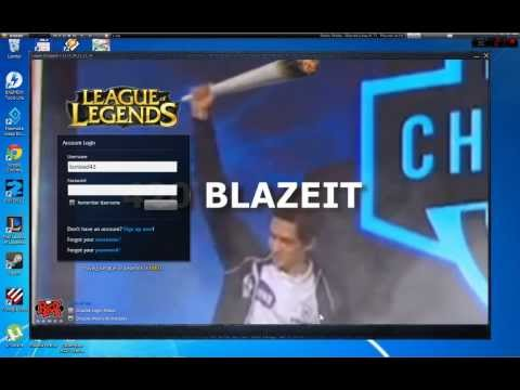 Leauge of Legends Gambit Darien login screen :3