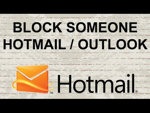 How to block someone on Hotmail / Outlook Mail
