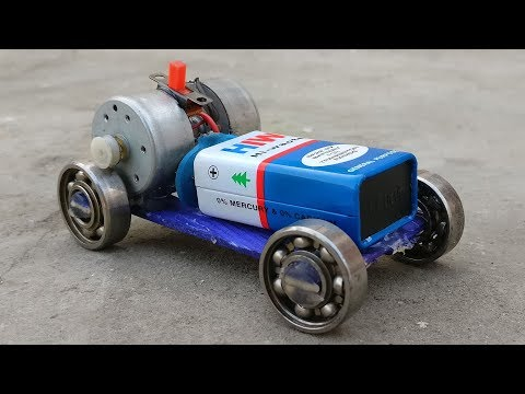 How to Make a Mini Car Using Bearings at Home - Powerful Electric Car
