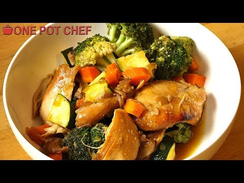 Slow Cooker Teriyaki Chicken with Vegetables | One Pot Chef