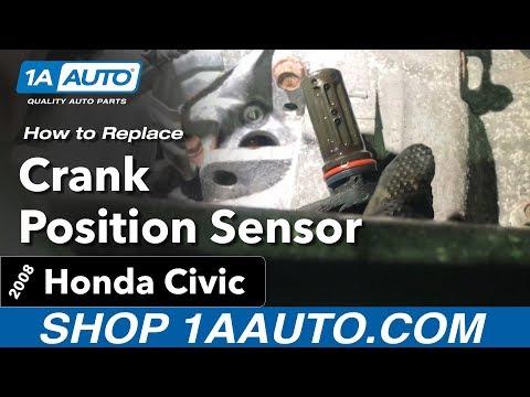 How to Replace Install  Crank Position Sensor  06-11 Honda Civic