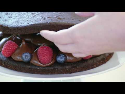 Gluten Free Chocolate and Raspberry Layer Cake Recipe - Betty Crocker™
