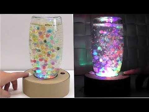 Make a fountain lamp with Coca-cola Bottle and DC motor