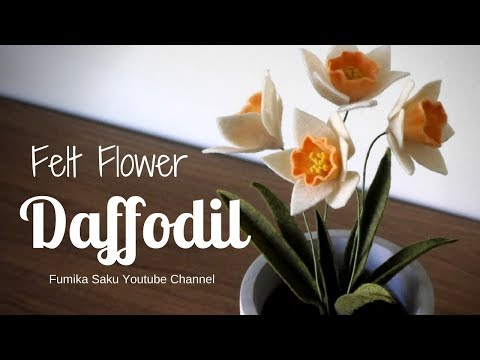How to Make Felt Flower : Daffodil