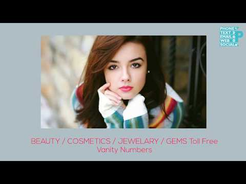 Buy Local Toll Free Vanity Numbers in Beauty / Cosmetics / Jewelary / Gems