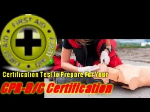 Mock Test for Your Standard and Emergency First Aid CPR-C/CPR-B Certification