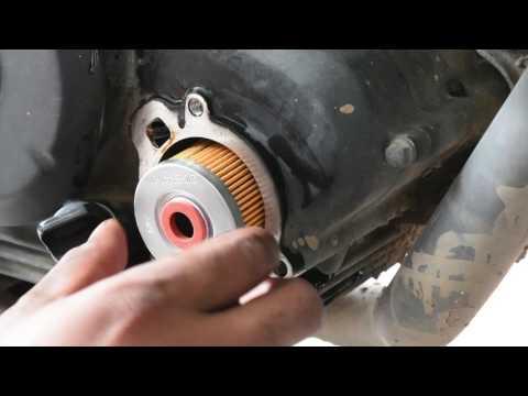 Yamaha FZ Engine Oil Change Oil Filter Change