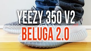 a2b7eb38a96fb ADIDAS YEEZY BOOST 350 V2 BELUGA 2.0 on Feet and Close Up