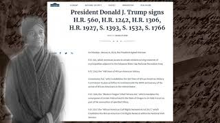 Donald Trumps signs H R 1242 400th anniversary of the arrival of African Americans in the US