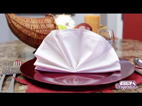 How to Fold a Napkin the Fancy Way