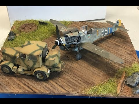 Painting and detailing the New Squadron airplane dioramas