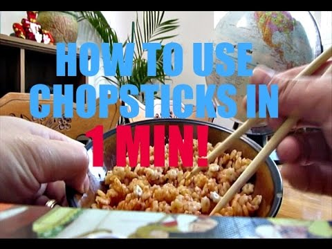 Quick Tips/Hack - How to Use Chopsticks in 1 minute!
