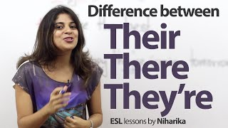 The difference between There, Their and They're. - English Grammar Lesson
