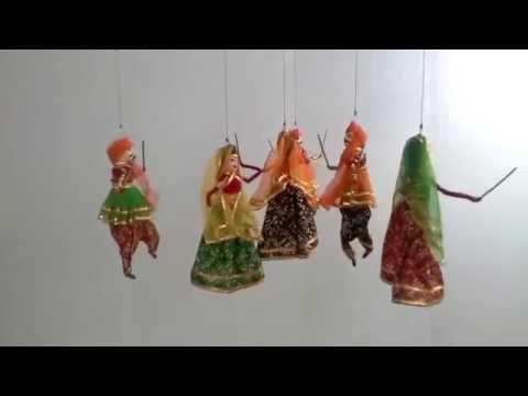 Kinetic art dandiya dancing dolls by Kalashree dol