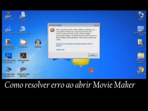 Como resolver erro ao abrir editor Movie Maker | Windows Live Essentials 2012