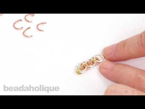 How to do a Helm Chain Weave in Chain Maille