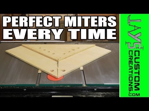 PERFECT Miters With A Table Saw Miter Sled - 145