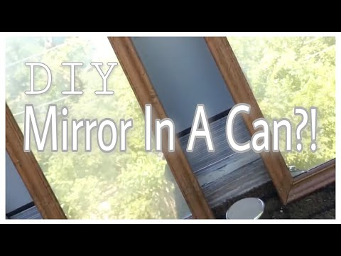 How to: Turn Glass Into Mirrors! ( Rust-Oleum Mirror Effect)